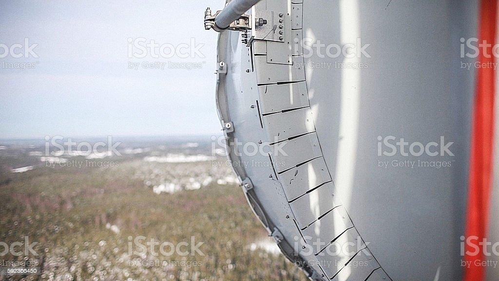 Microwave Transmitter antenna stock photo