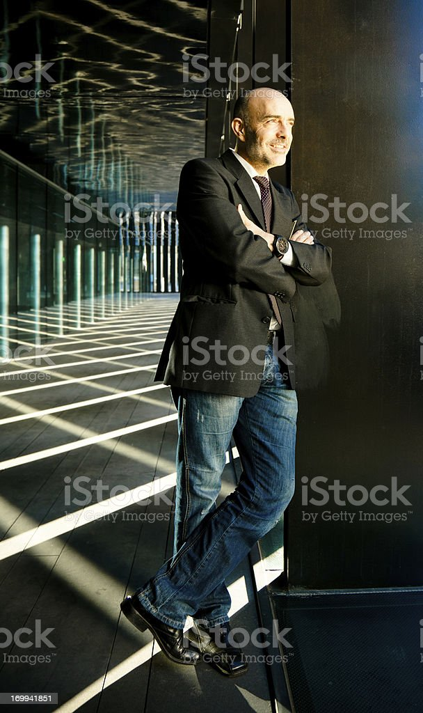 Mid adult business man royalty-free stock photo