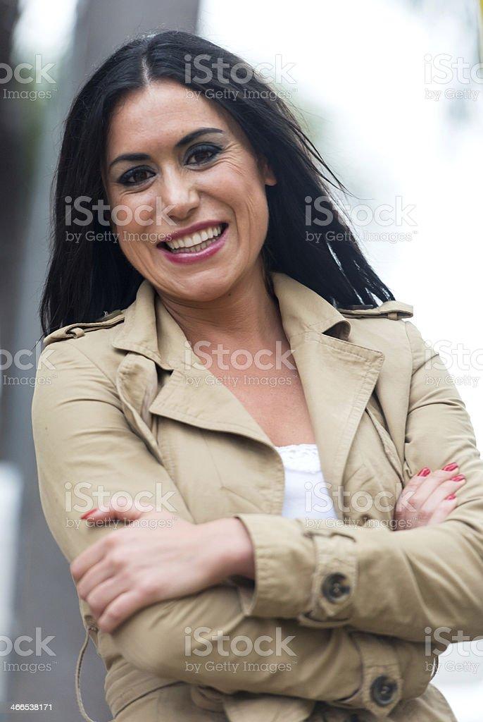 Mid adult hispanic woman royalty-free stock photo