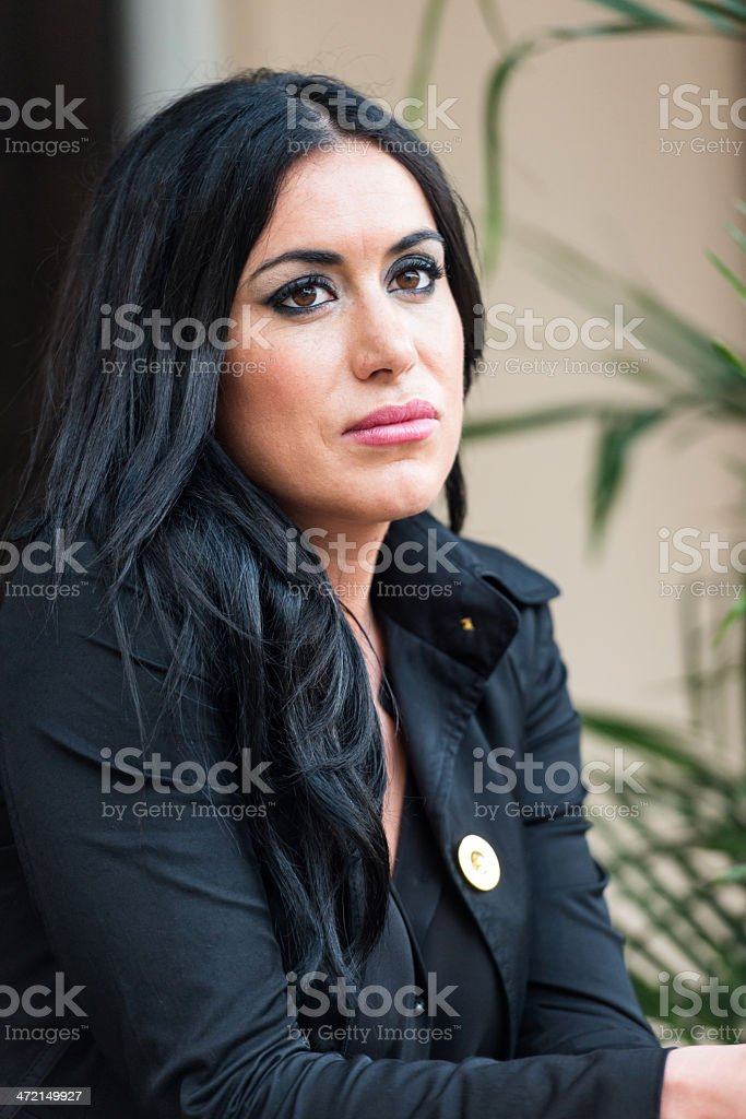 Mid adult jewish woman royalty-free stock photo
