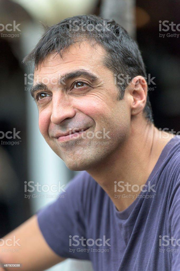 Mid adult man stock photo