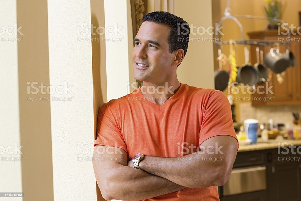 Mid Adult Man With Arms crossed royalty-free stock photo