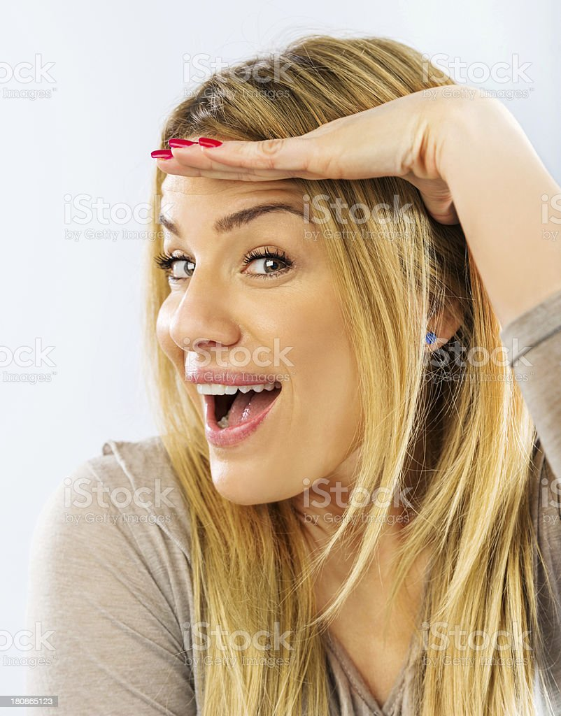 Mid adult smiling woman. royalty-free stock photo