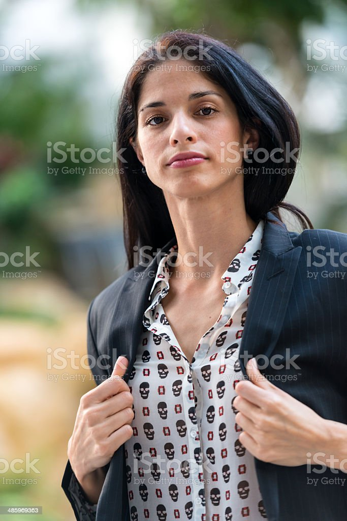 Mid adult woman royalty-free stock photo