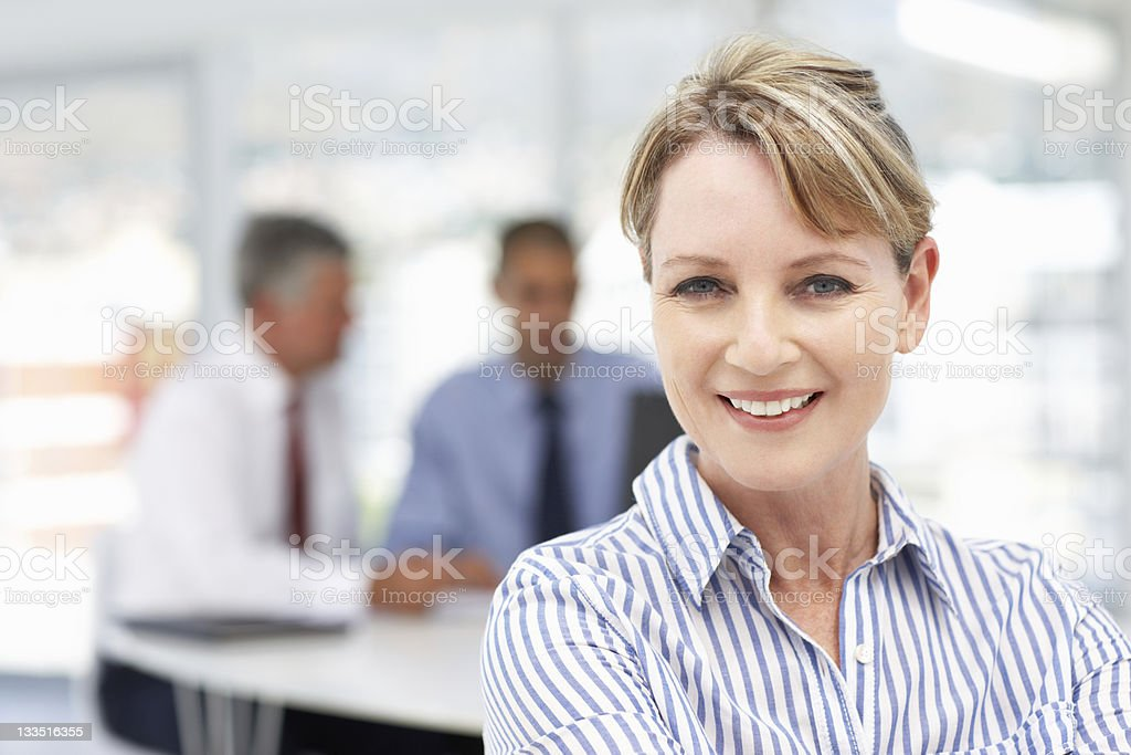 Mid age businesswoman royalty-free stock photo