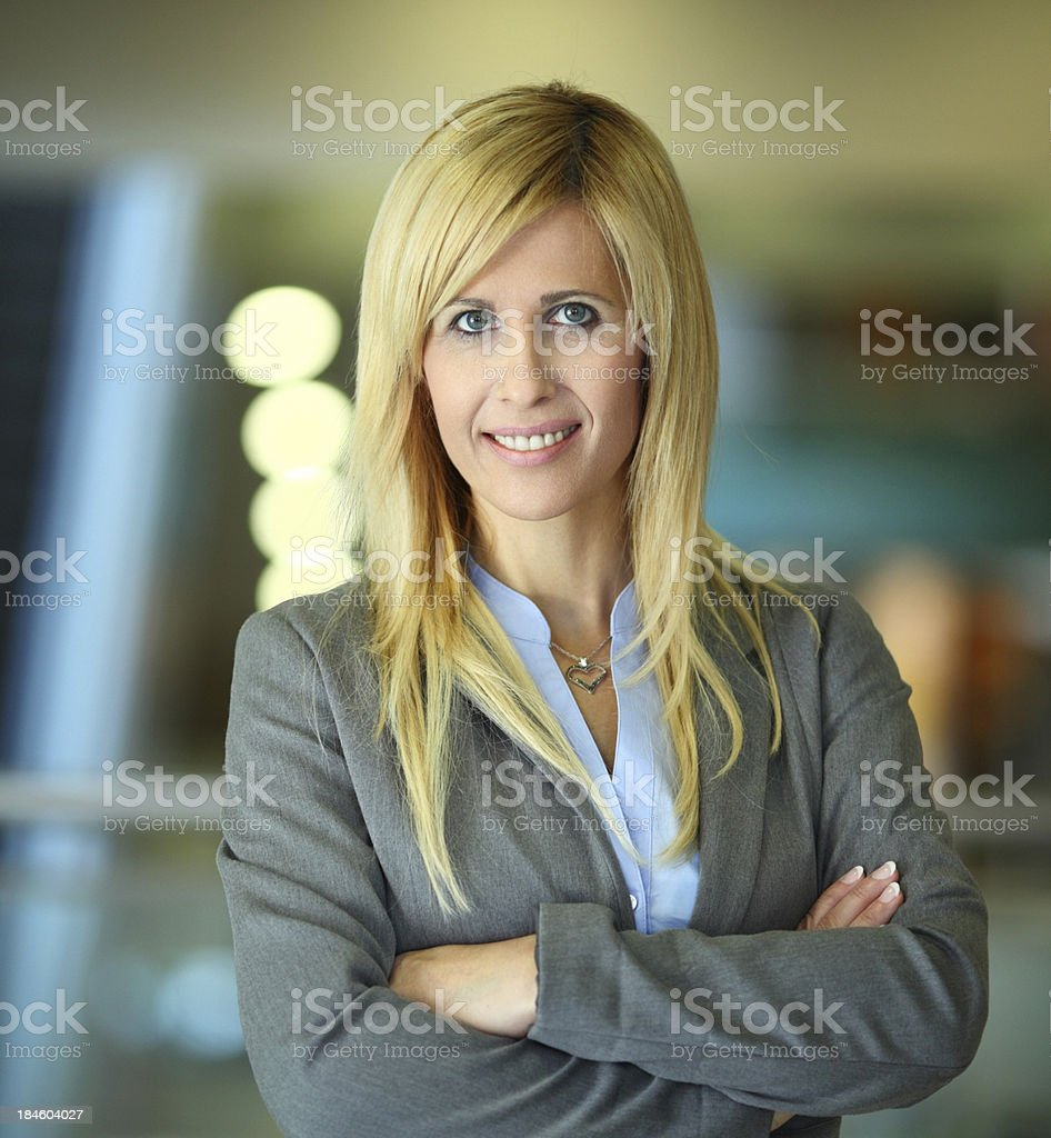 Mid age businesswoman. royalty-free stock photo