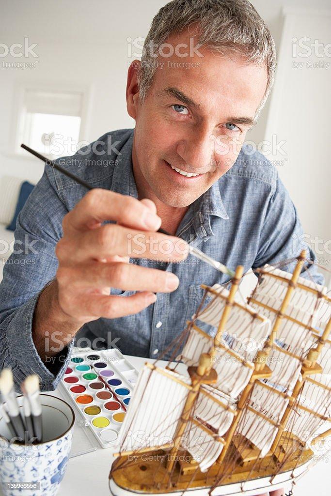 Mid age man model making royalty-free stock photo