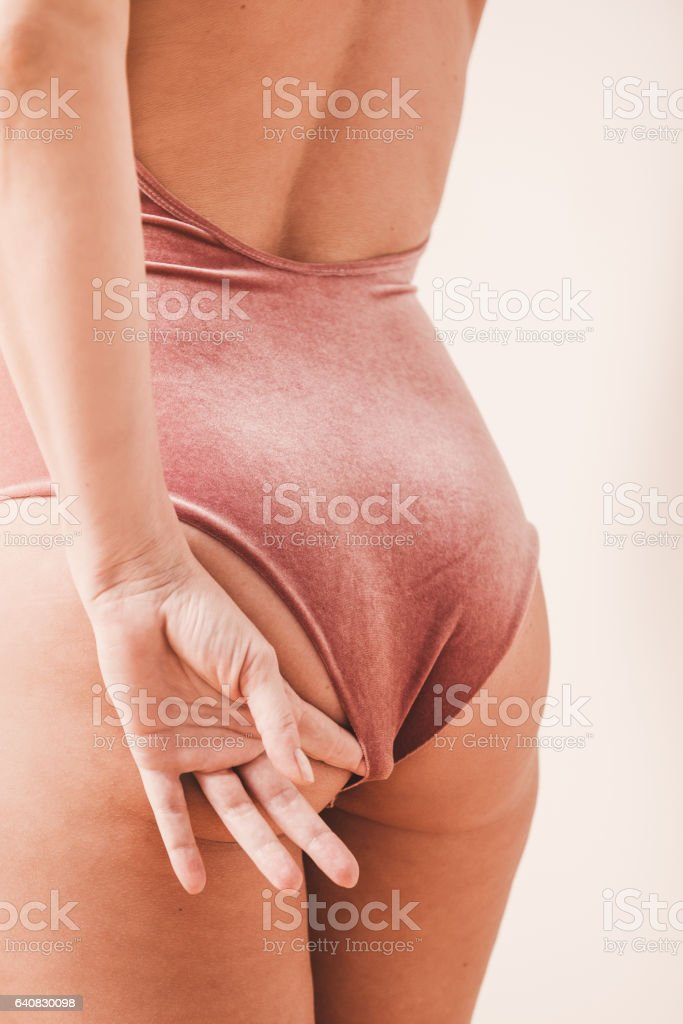 Mid age woman but with its beauty marks close up stock photo