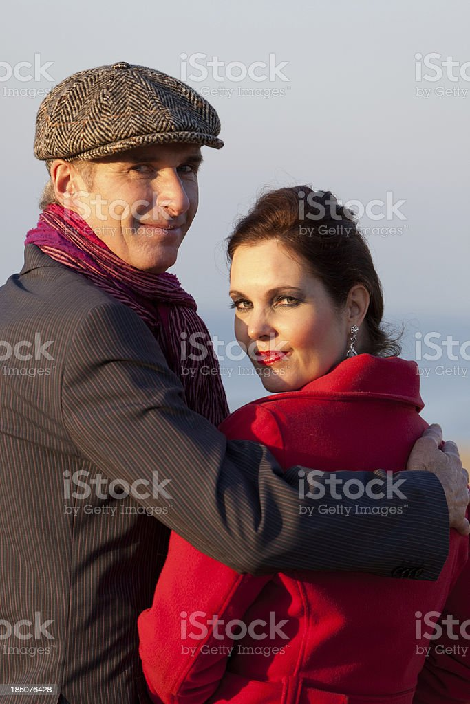 Mid aged couple stock photo