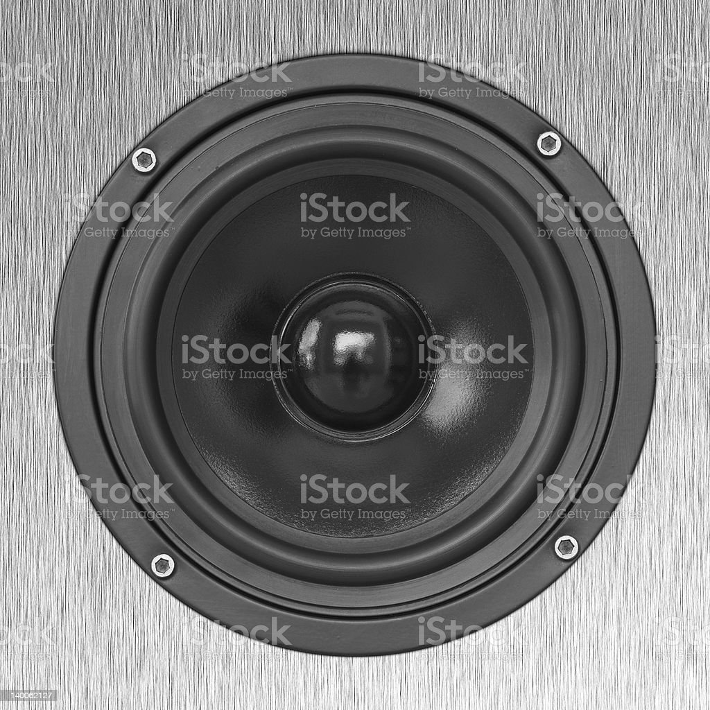 Mid bass speaker stock photo