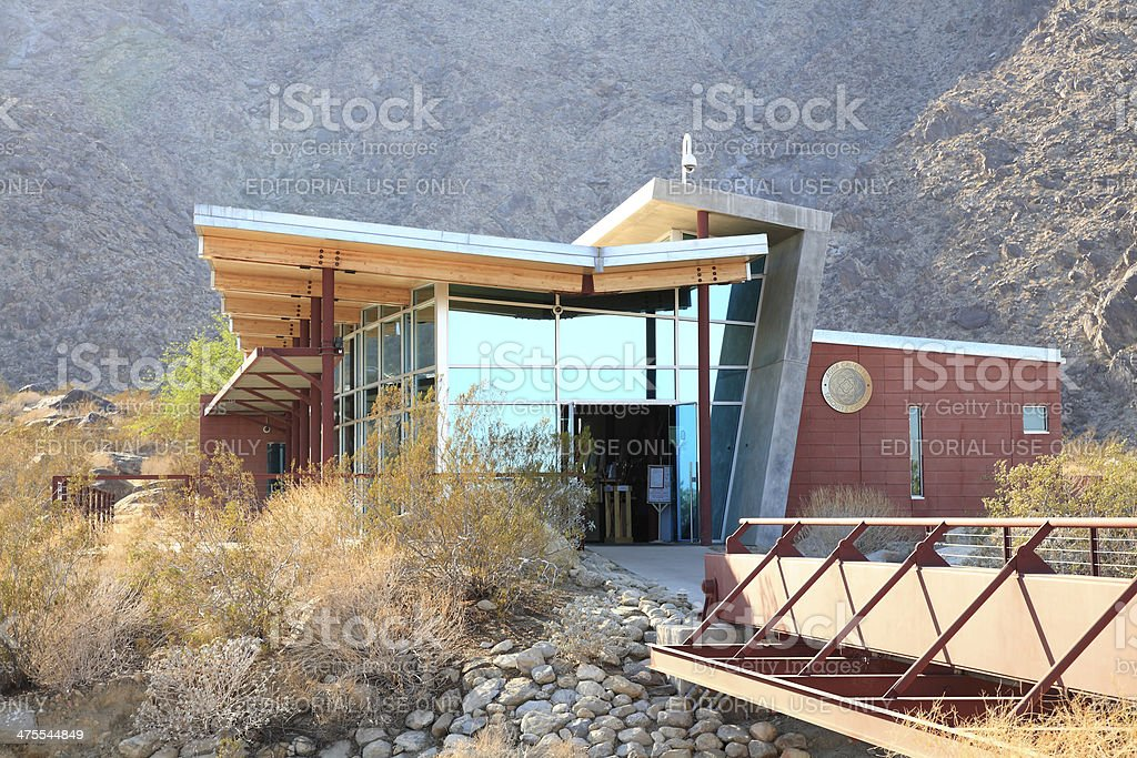 Mid Century Architectural Entrance To Tahquitz Canyon Hiking stock photo