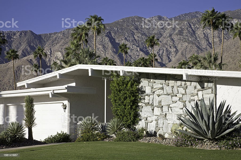 Mid Century Modern Architecture Palm Springs stock photo