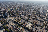 Mid City Los ANgeles Summer Afternoon Aerial