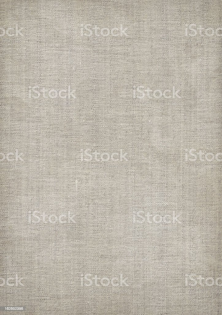 Mid gray linen textured fabric with visible weave stock photo