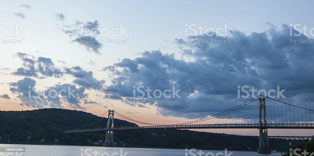 Mid Hudson Bridge - Dusk stock photo