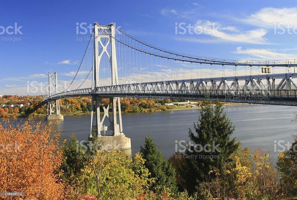 Mid Hudson Bridge royalty-free stock photo