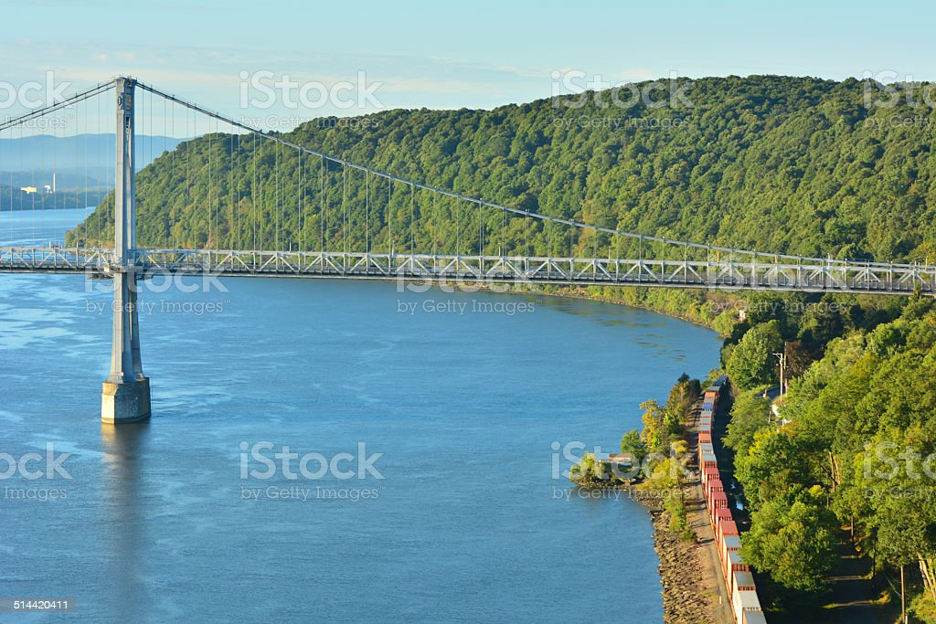 Mid Hudson Bridge stock photo