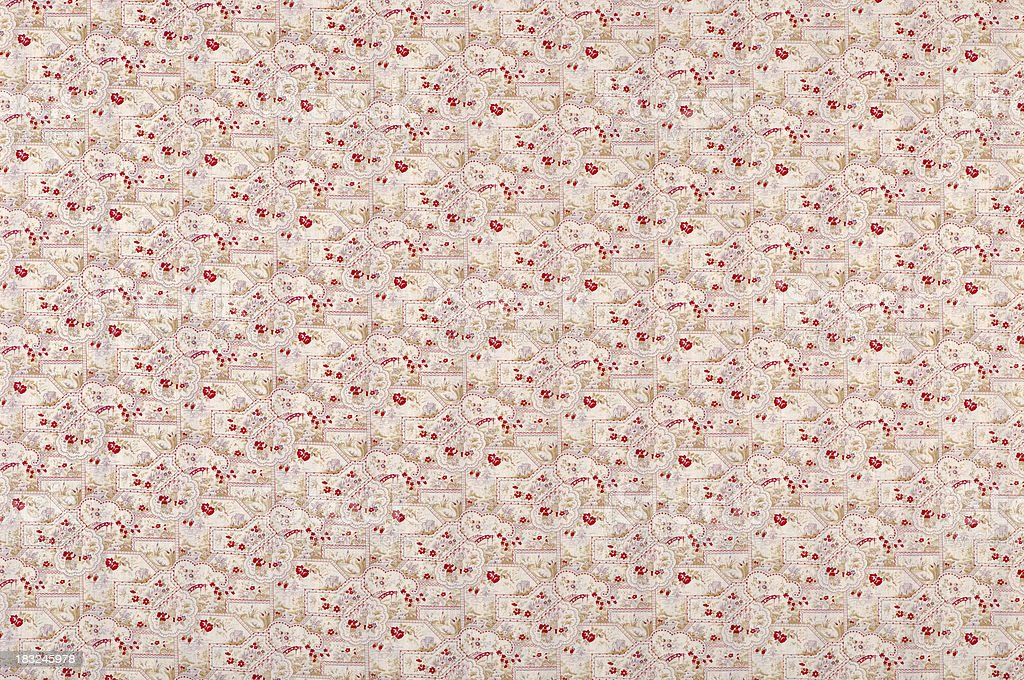 Mid Summer Nights Wide Antique Floral Fabric stock photo