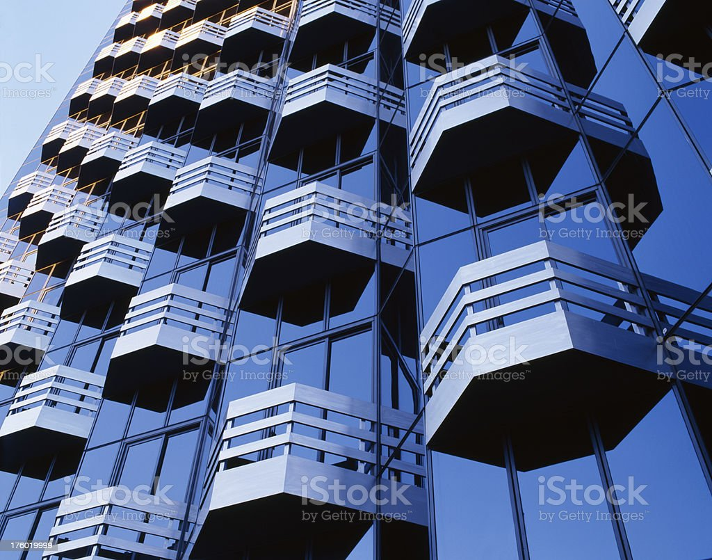 Mid Wishire Building Detail stock photo