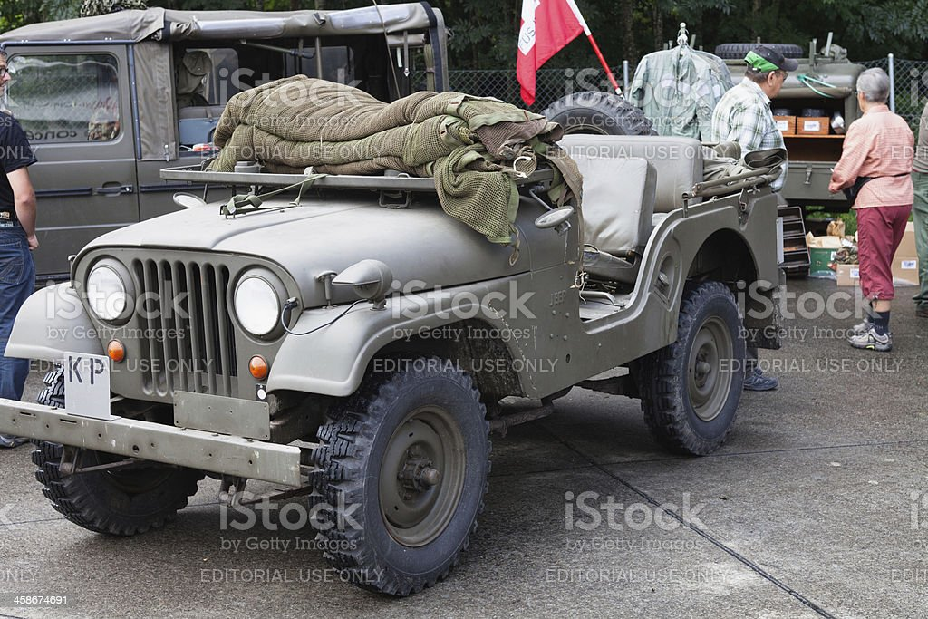 Mid-20th Century Swiss Army Vehicles stock photo