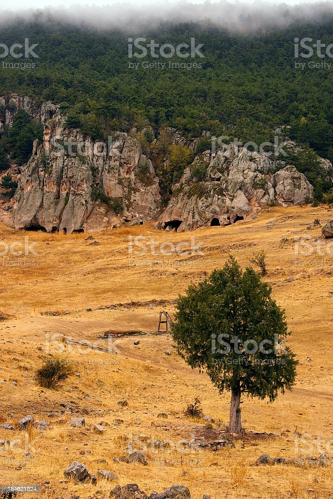 Midas City - King's Stone Graves stock photo