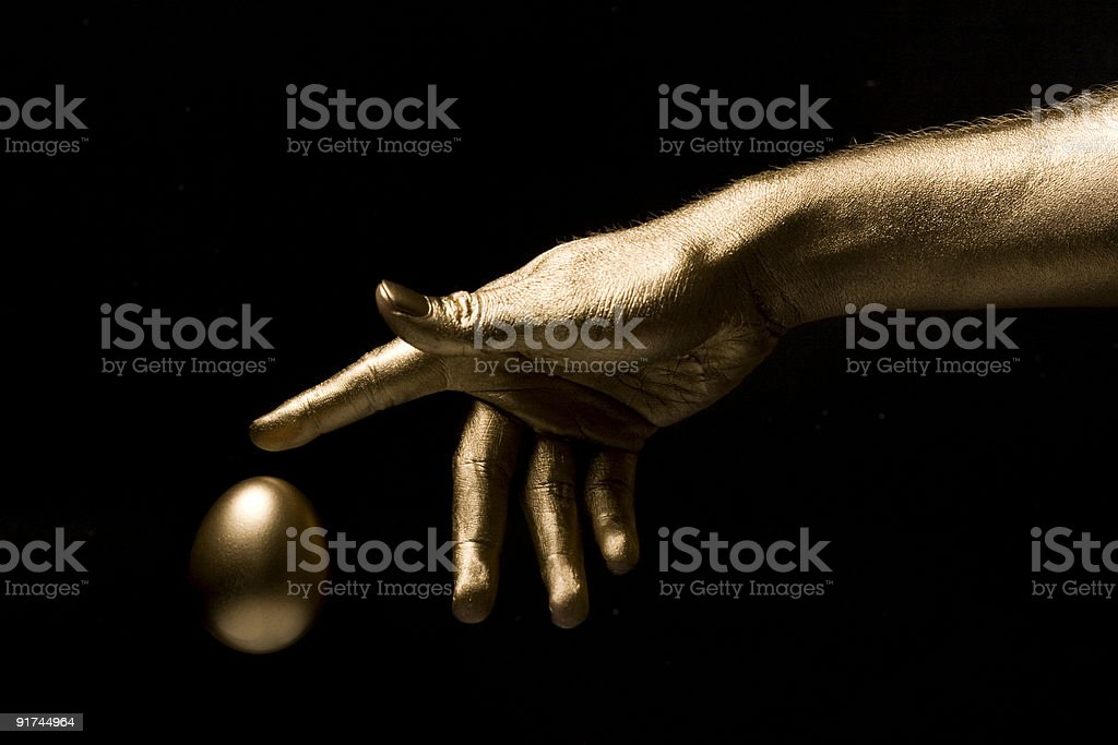 Midas Touch stock photo