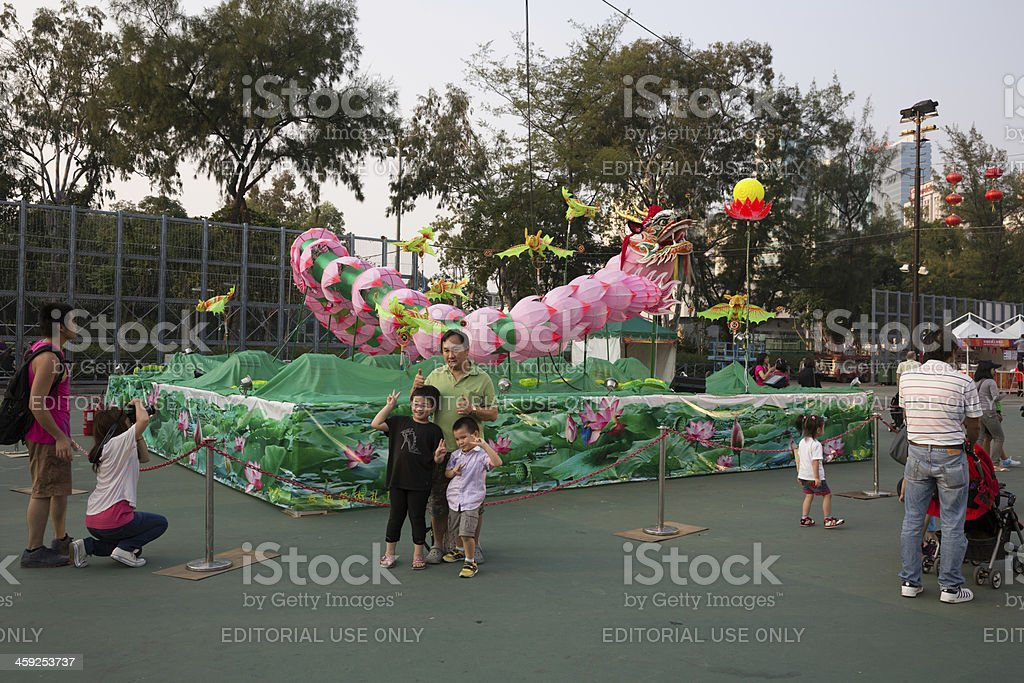 Mid-Autumn Festival in Hong Kong royalty-free stock photo