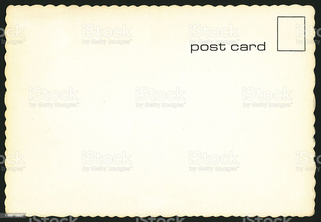 midcentury blank postcard royalty-free stock photo