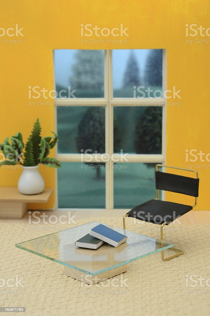 Mid-Century Modern Living Room stock photo