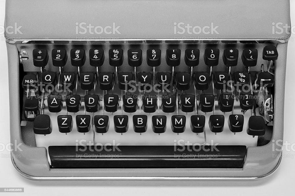 Midcentury Typewriter Keyboard stock photo
