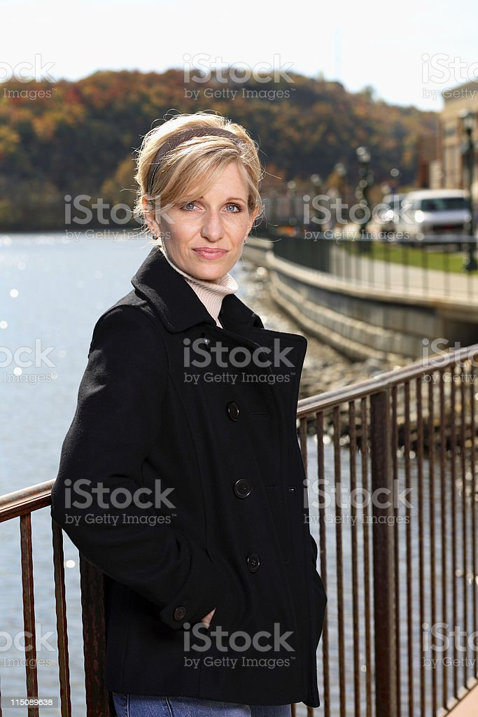 middle age beauty autumn portrait royalty-free stock photo