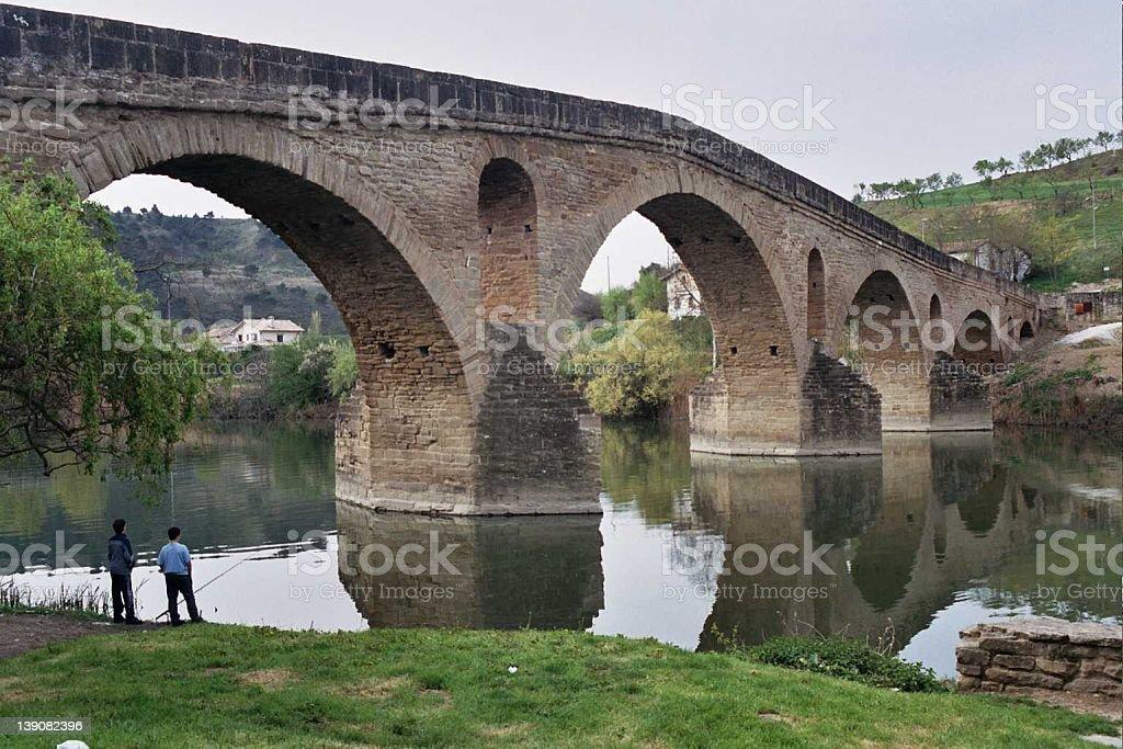 Middle Age bridge royalty-free stock photo
