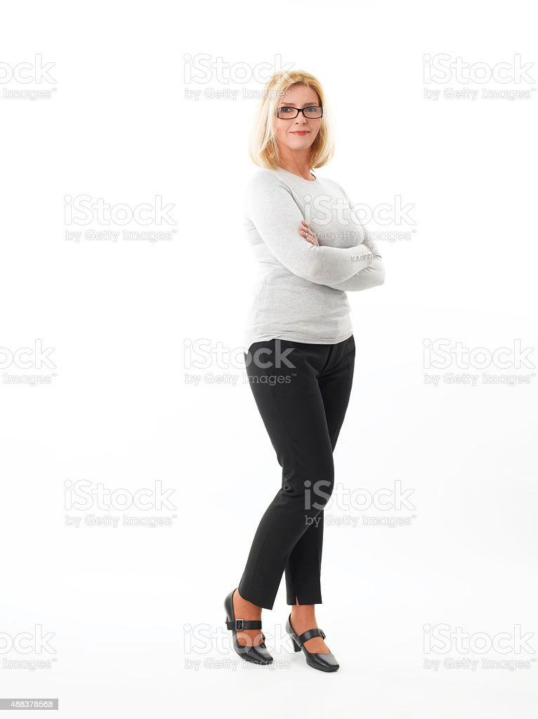 Middle age businesswoman stock photo