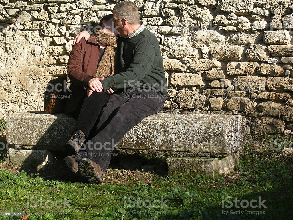 Middle age love 2 royalty-free stock photo
