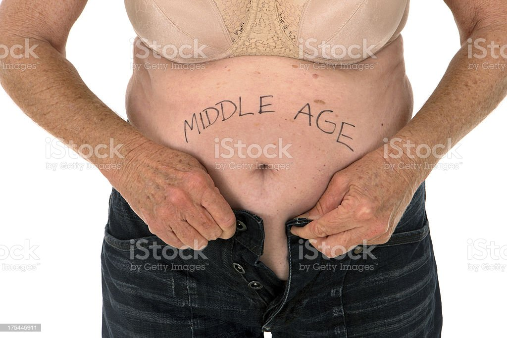 Middle Age Spread royalty-free stock photo