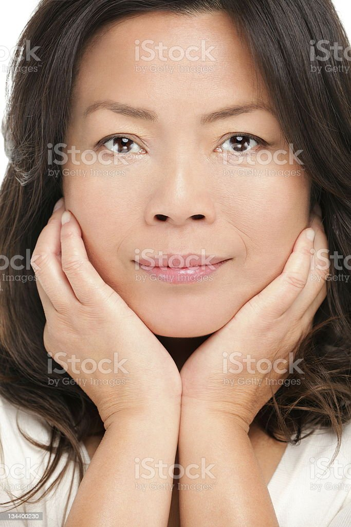 Middle aged asian woman beauty portrait royalty-free stock photo