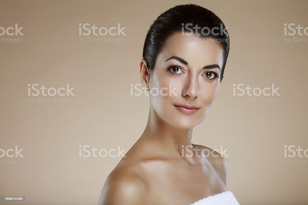 Middle aged beautiful woman royalty-free stock photo