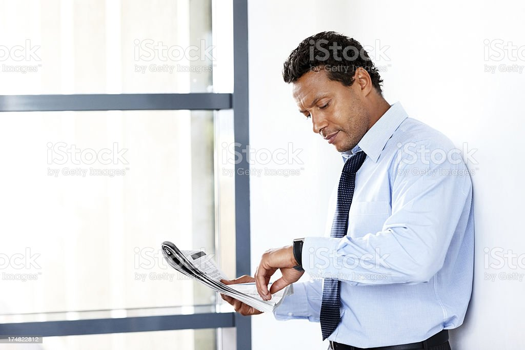 Middle aged business man waiting for somebody royalty-free stock photo