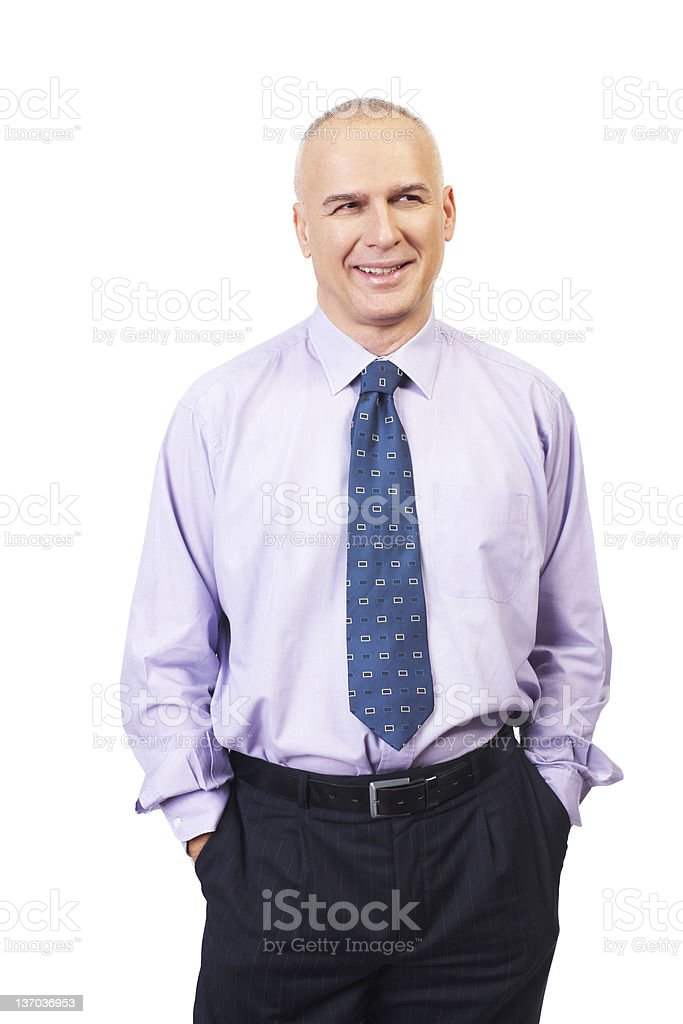 Middle aged businessman royalty-free stock photo