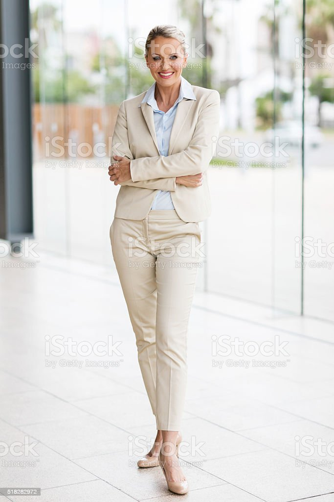 middle aged businesswoman stock photo