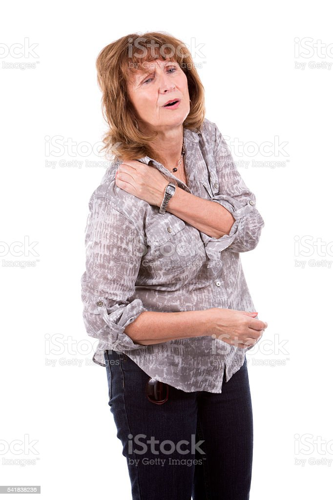 middle aged casual woman stock photo