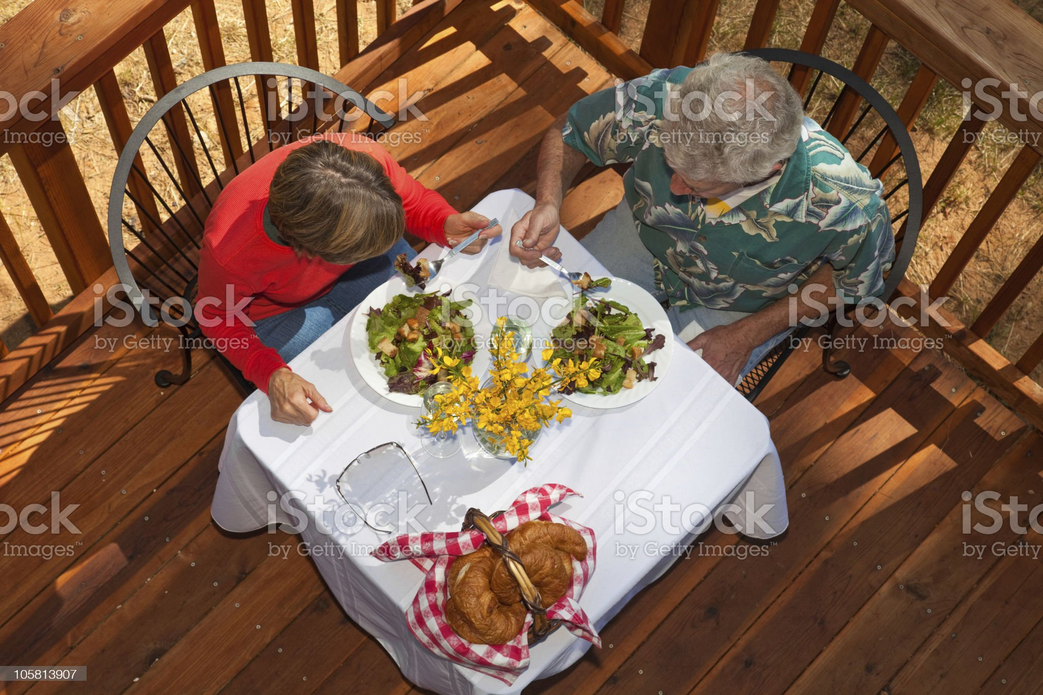 Middle Aged Couple having Brunch royalty-free stock photo