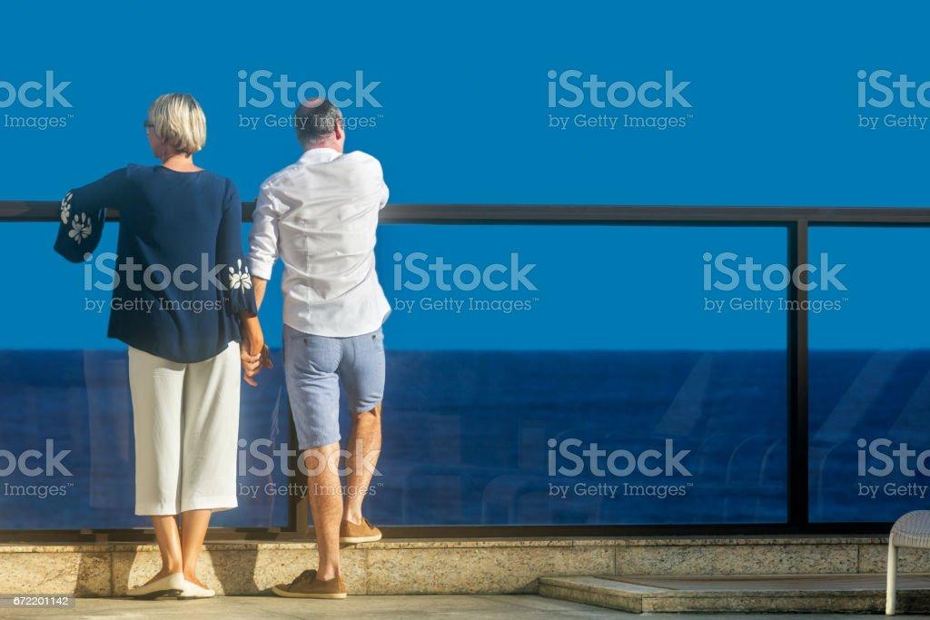 Middle aged couple romance stock photo