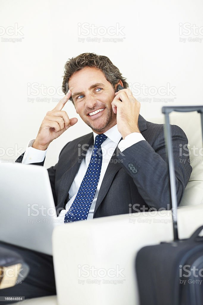 Middle aged executive ready for business trip royalty-free stock photo