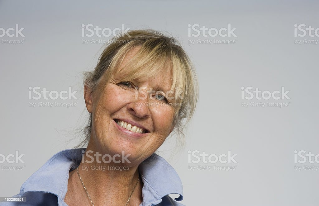 Middle Aged Female Artist stock photo