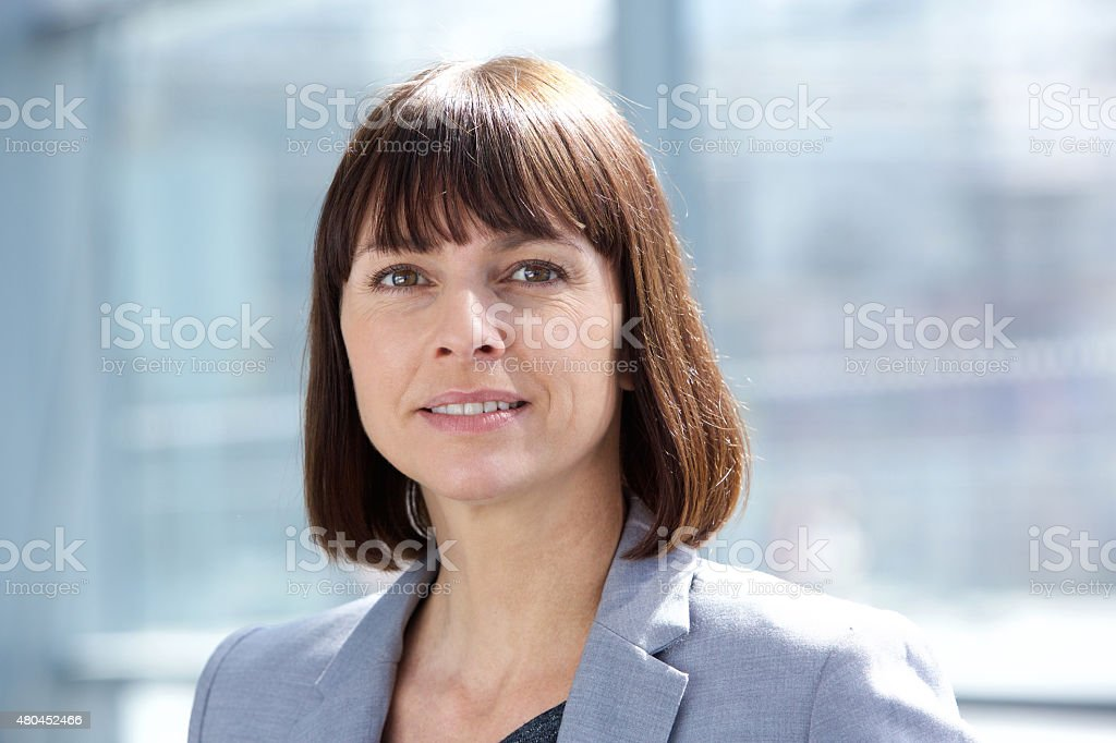 Middle aged professional business woman stock photo