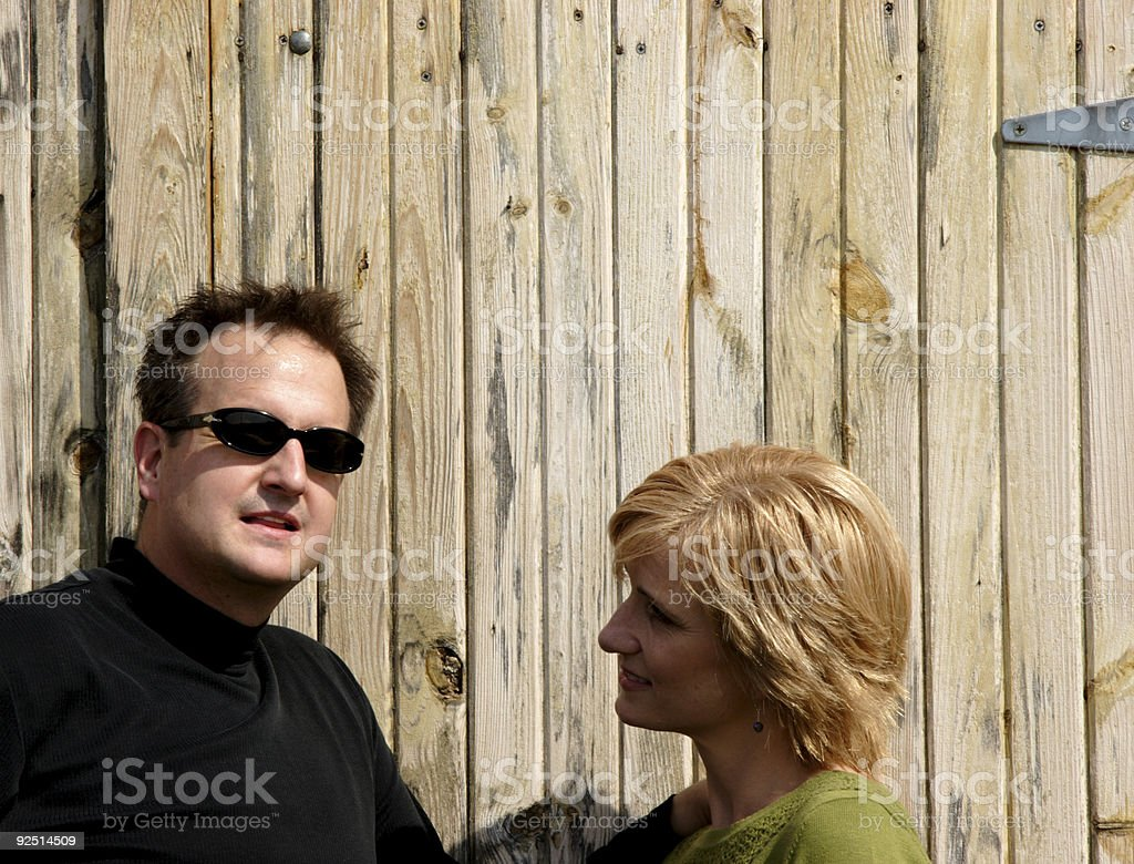 middle aged woman and man portrait royalty-free stock photo