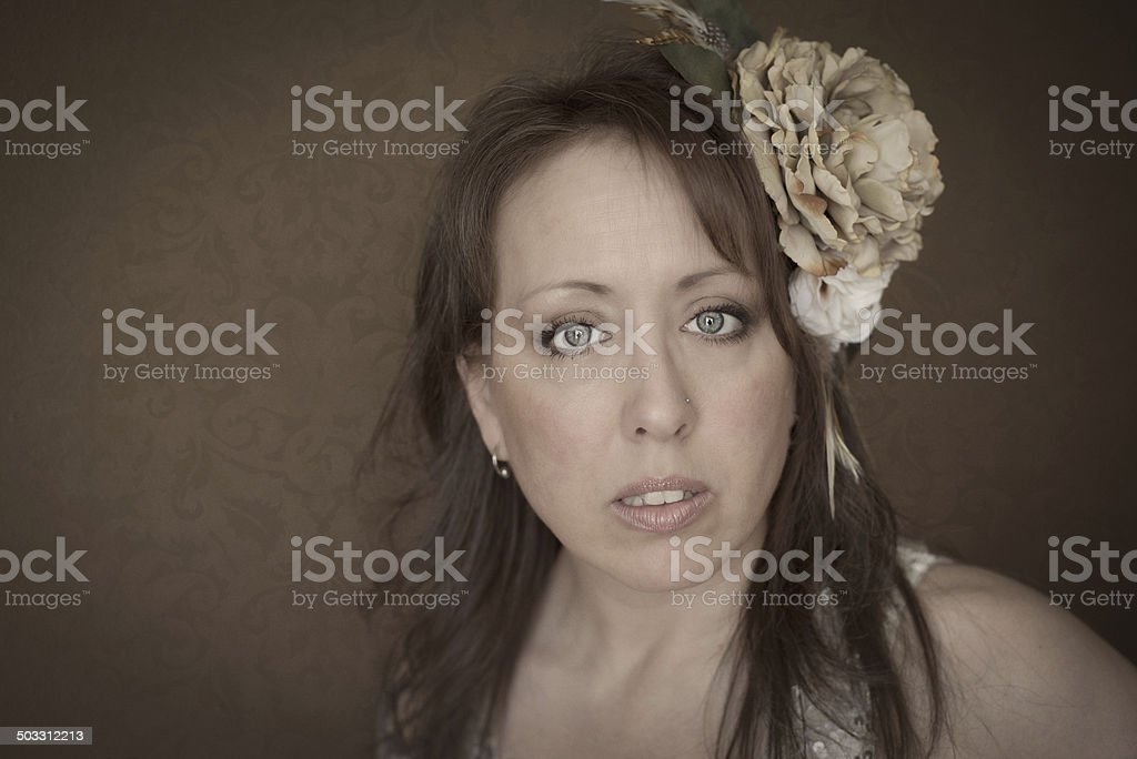 Middle Aged Woman Beauty Portrait stock photo