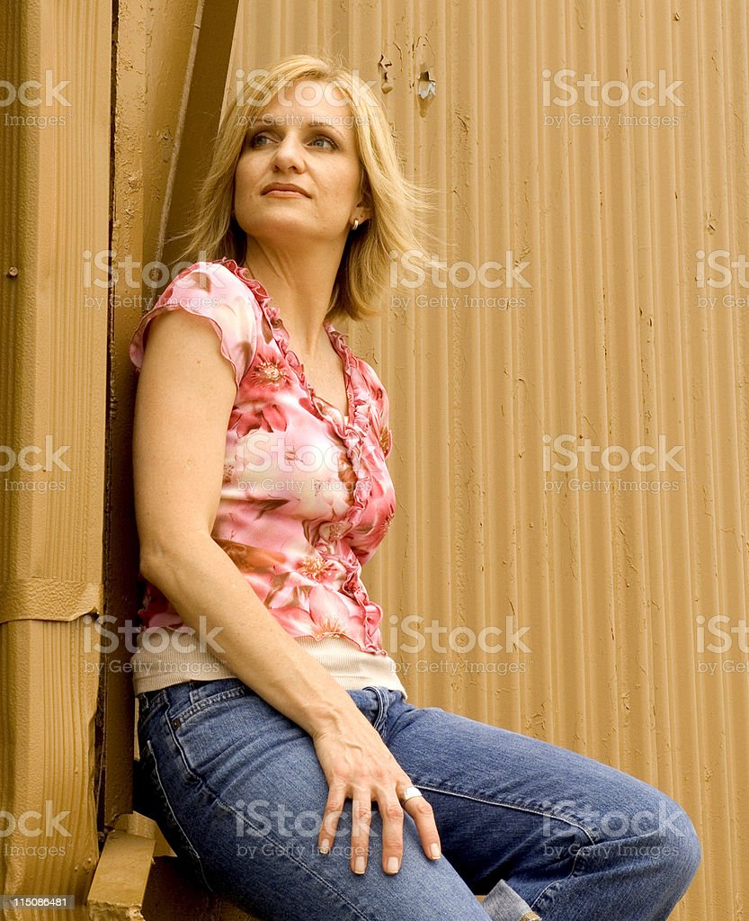 middle aged woman portrait royalty-free stock photo