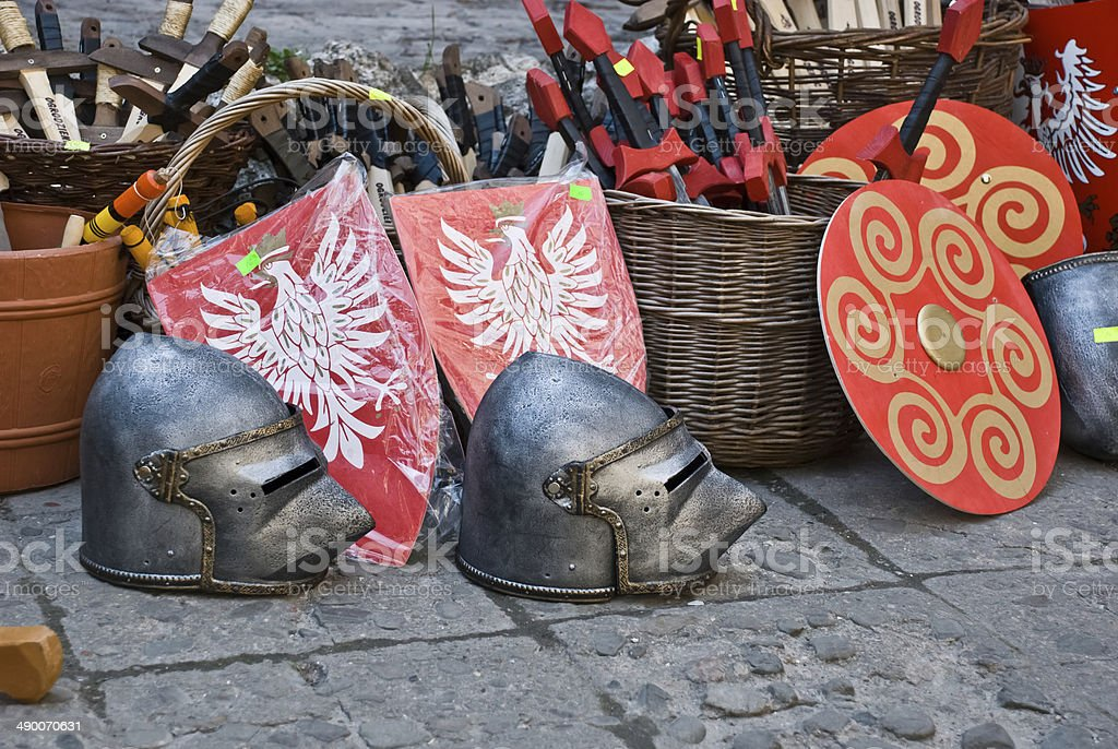 Middle Ages market stock photo